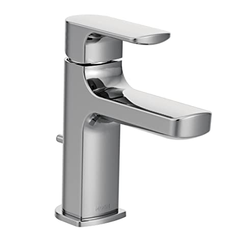 Moen 6900 Rizon One Handle Low Arc Bathroom Faucet With Drain Assembly,  Chrome