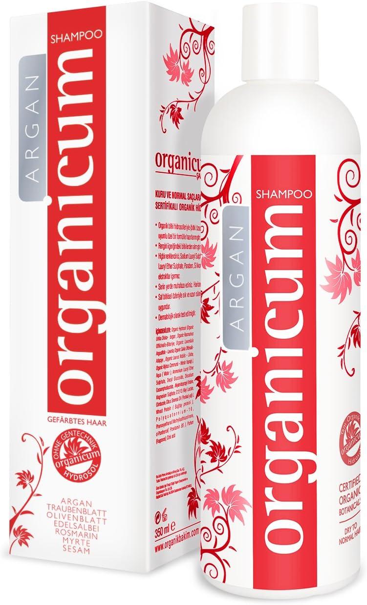 organicum - Champú Argan para cabello teñido (350ml) para problemas de cabello y cuero cabelludo