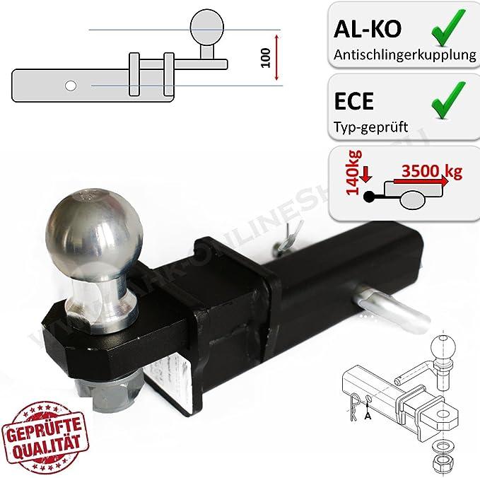 Ahk Us Adapter 50x50mm Anhängevorrichtung Auch Für Al Ko Antischlingerkupplungen Auto