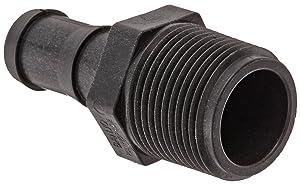 """Banjo HB075-050 Polypropylene Hose Fitting, Adapter, 3/4"""" NPT Male x 1/2"""" Barbed"""