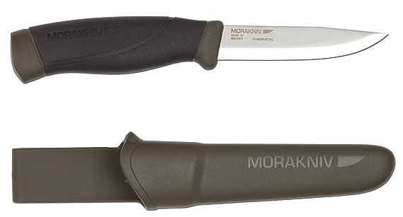 Mora-Messer, Companion MG Heavy Duty, Carbonstahl, Gummigriff, Kunststoffscheide