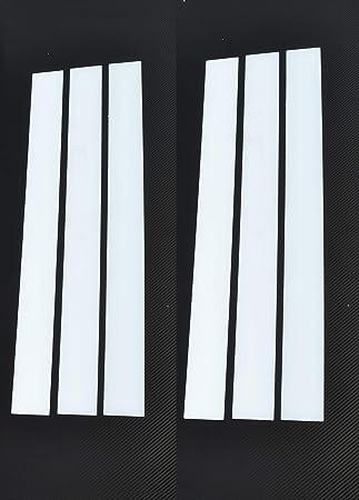 6 x Tiras de Acero Inoxidable Guardabarros Decoración para ...
