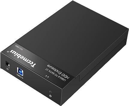 tccmebius tcc-s863-uk USB 3.0/A SATA Disco Duro Externo Caja para 2,5/3,5/Pulgadas SATA I//II//III HDD y SSD instalaci/ón sin Herramientas m/áximo Apoyo 8/TB Soporte UASP
