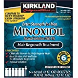 Amazon Price History for:6 Months Kirkland Minoxidil 5 percentage Extra Strength Hair Loss Regrowth Treatment Men, 2 oz