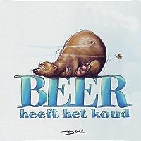 Beer heeft het koud