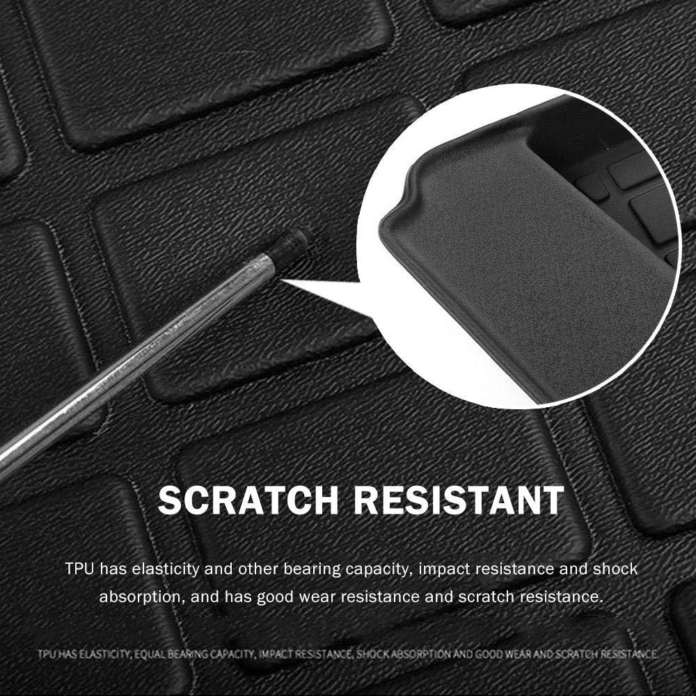 Lourd Tapis de Protection Coffre Duster arri/ère de Voiture DokFin Tapis de Coffre pour Tesla Model 3 2017 2018 2019 Caoutchouc Noir Rear Trunk Mat Tous Les Temps