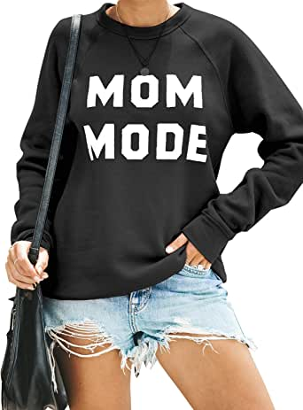Blooming Jelly Womens Crewneck Sweatshirt Long Sleeve Raglan Letter Print Terry Casual Cute Pullover Top