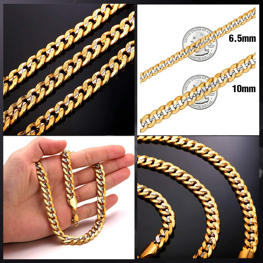 5mm MEN/'S 316L Stainless Steel Curb Chain Bracelet and Necklace 8 18 20 22 24
