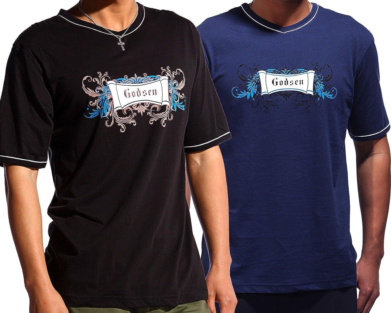 Godsen Men's Short Sleeve T-Shirt 2-Pack Cotton V Neck Tee Shirts
