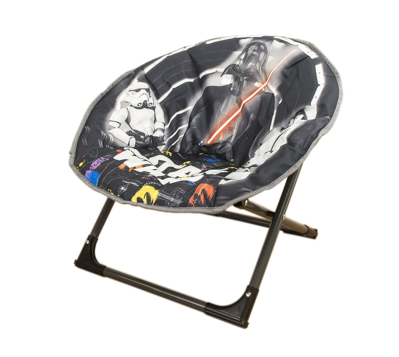 Disney Chaise de lune Star Wars Nouveau modèle, ronde pliante Fauteuil rembourré doux pour les tout-petits, enfants Allcam Starwars_New