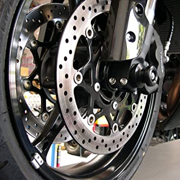 Front Axle Fork Crash Sliders Wheel Protector For SUZUKI GSX-R1000 1300 600 750