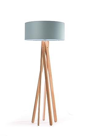 Design Lampe Sur Pied Trepied Avec Abat Jour En Tissu Haute Qualite