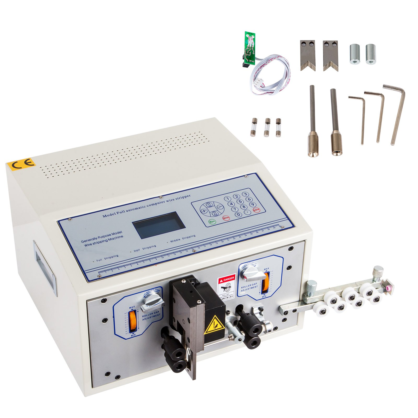 BestEquip Cable Wire Stripping Machine 1mm-9999mm Diameter Wire Stripping Machine 1 Cutting Blade Electric Wire Stripper for cutting and Stripping Scrap Copper Wire (SWT508-SD4.5 1mm-9999mm)