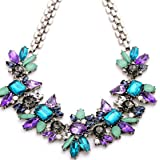ULAKY Luxury Crystal Flower Pendant Necklace Fashion Jewelry Women Accessories
