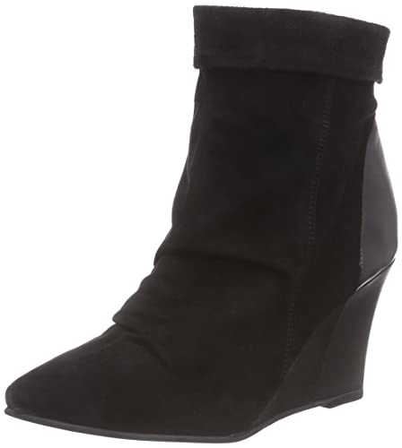 Ladonna Wedges, Womens Unlined Classic Boots Half Length Black Lily