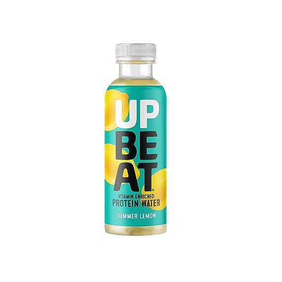 Upbeat - Bebida proteínica - Agua de manantial con vitamina B - Paquete de 12 unidades