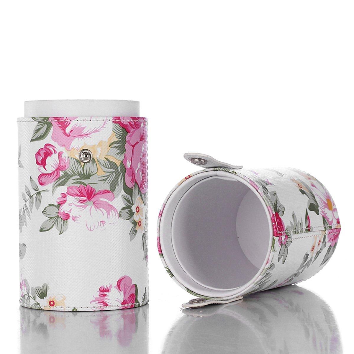 Makeup Brush Cup Holder PU Leather Make Up Cosmetics Organizer Travel Pouch Storage Stationery Bag Case(Stripe Black) … EMOCCI-B-Cup-Black