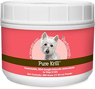 product image for Herbsmith Pure Krill - Wild-Caught Antarctic Krill - Just 1 Ingredient - Astaxanthin for Dogs - Ready-to-Use Omega 3s