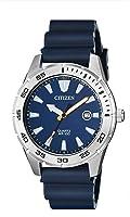Citizen Men's Stainless Steel Japanese-Quartz Polyurethane Strap, Blue, 22 Casual Watch (Model: BI1041-22L)