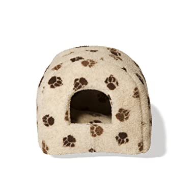 Danish Design Pet Products - Cama iglú con estampado de zarpas para gatos (41 x
