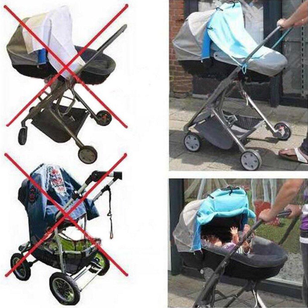 hibote Parasol Cubiertas para carrito silleta algodón 49 * 53CM (azul cielo): Amazon.es: Bebé