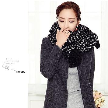 664049b6de9 WINOMO Femme écharpe hiver Long Mohair laine douce chaude Vogue Wrap châle  Plaid (noir)