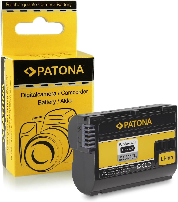 Caricabatteria casa//auto Patona per Nikon EN-EL15,1 V1,D600,D610,D750,D7000