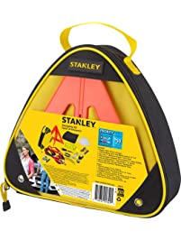 STANLEY ERK1S Car/Truck/SUV Roadside Emergency Safety Kit with Jumper Cables, Reflective Triangle, Blanket, Tools, and...
