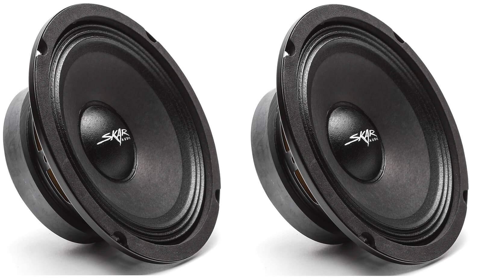 (2) Skar Audio FSX65-4 300-Watt 6.5-Inch 4 Ohm MID-Range Loudspeakers - 2 Speakers by Skar Audio