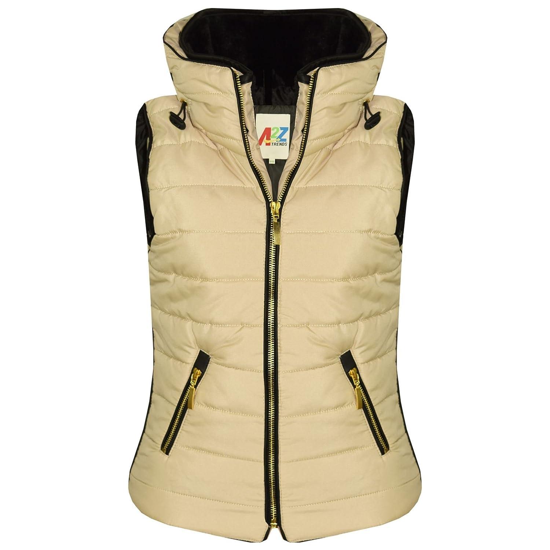 A2Z 4 Kids/® Kids Girls Boys Stone Puffer Bubble Sleeveless Hooded Gilets Body Warmer Jacket