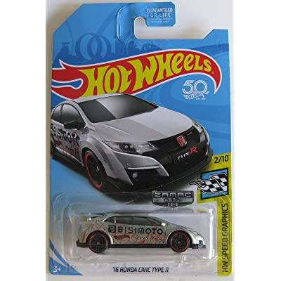 Hot Wheels 2020 Walmart Exclusive Zamac Hw Speed Graphics 2/10 - '16 Honda Civic Type R: Toys & Games