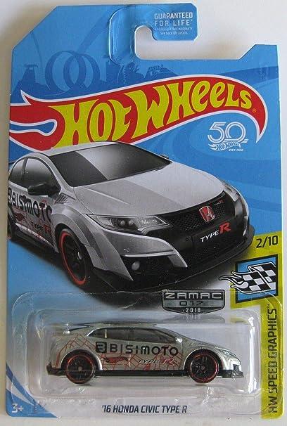Amazon.com: Hot Wheels 2018 Walmart Exclusive Zamac Hw Speed Graphics 2/10 - 16 Honda Civic Type R: Toys & Games