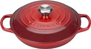 Le Creuset Enameled Signature Cast Iron Braiser, 2.25 qt, Cerise