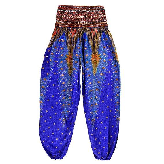 Para Hombres Mujeres Pantalones Sunnsean De Y Pavo Estampado Yoga 2YEDHIeW9