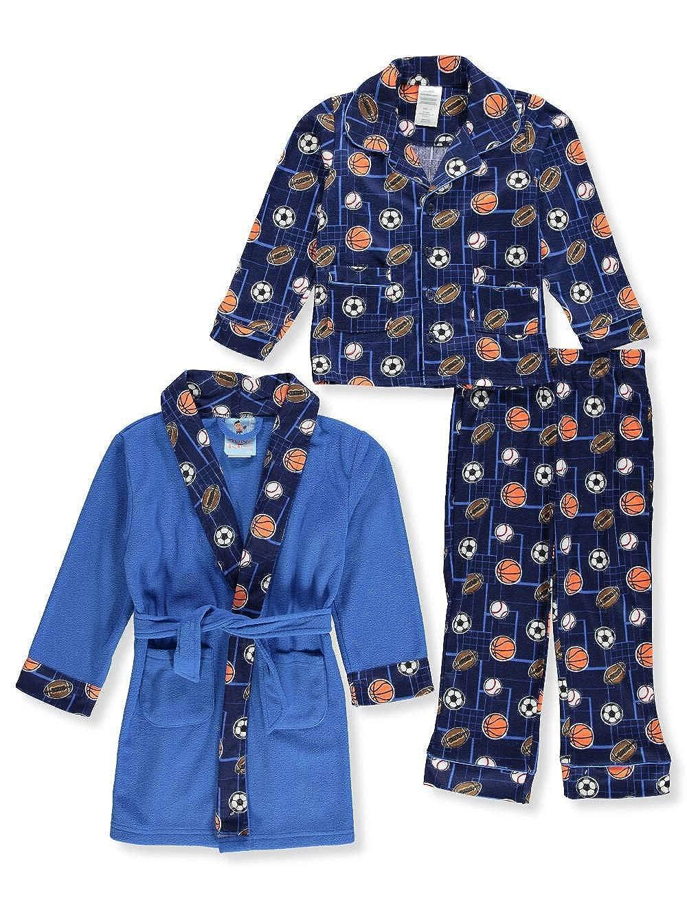 Bunz Kidz Little Boys' Toddler 2-Piece Pajamas with Robe - Blue/Multi, 3t