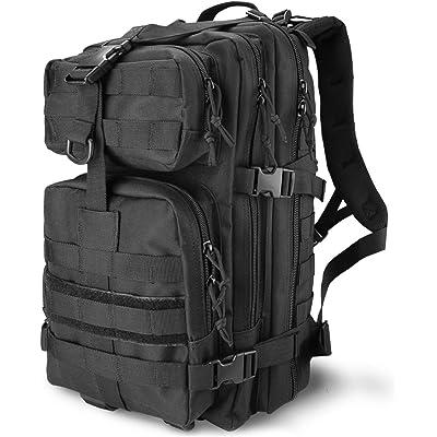 Procase Mochila Táctica Militar 35L, Paquete de Asalto MOLLE de Gran Capacidad para Utilidad Militar, Bolsa Caminata de 2 Días para Caza Senderismo Acampada y Actividad al Aire Libre –Negro