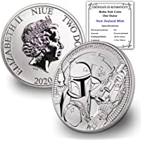 2020 NZ Niue 1 oz Silver Disney Star Wars Boba Fett Coin Brilliant Uncirculated w/Certificate of Authenticity by…