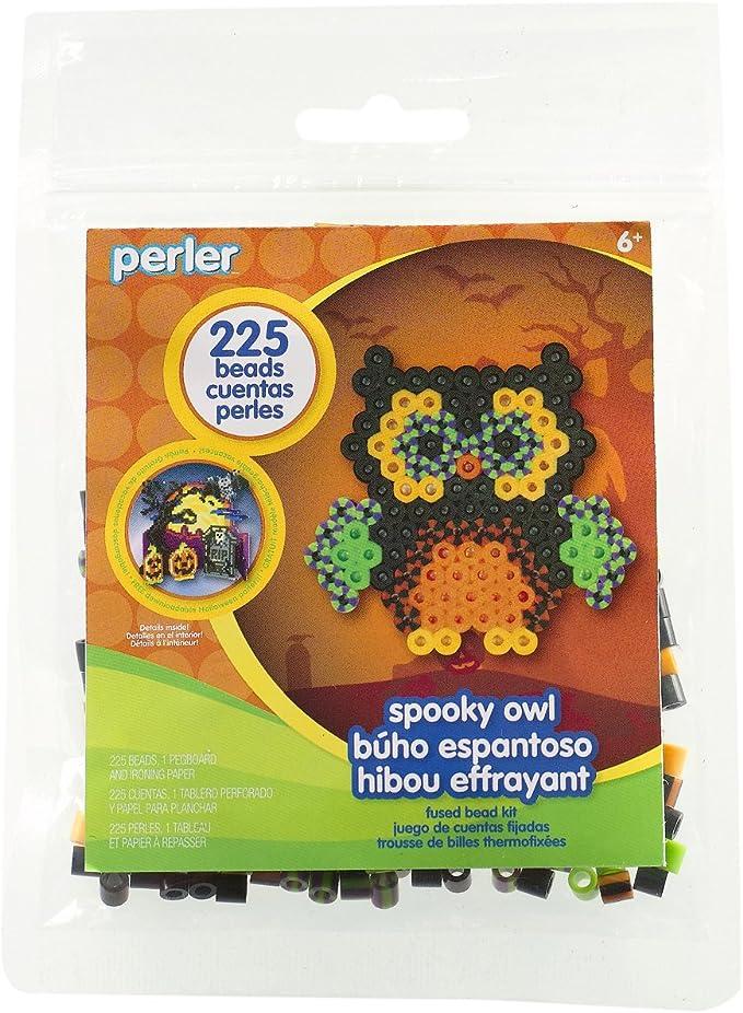 Amazon Com Perler Beads Spooky Owl Halloween Activity Kit Craft For Kids 227 Pcs