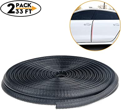 Universal U-shape Rubber Seal 10m Black Car Door Edge Protector Strip Trim