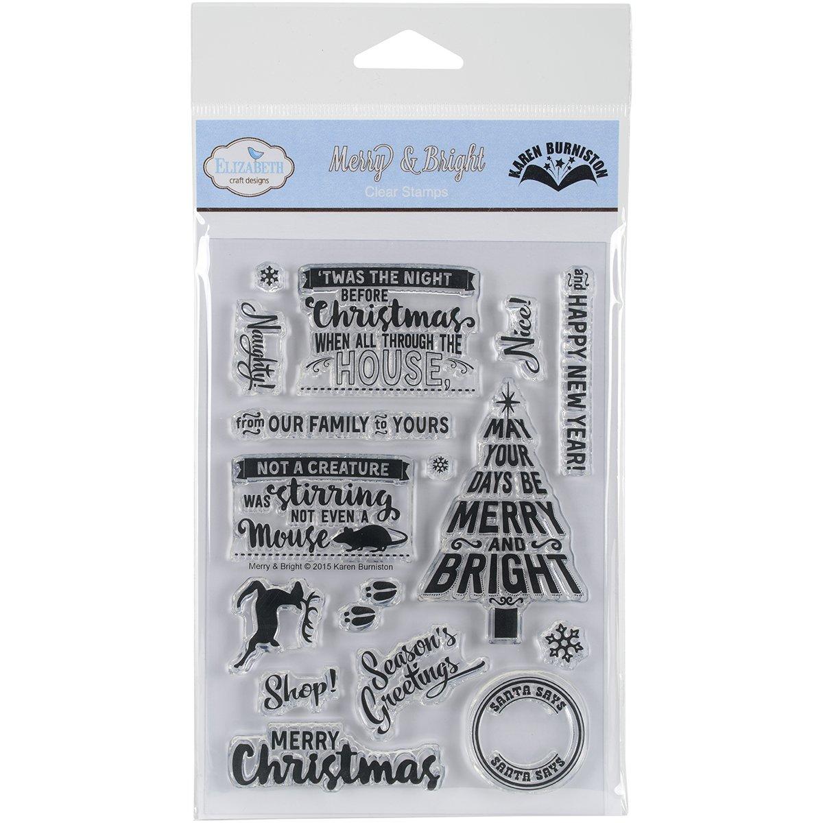 Elizabeth Craft Designs Acryl selbst Briefmarken 5,7/cm x 1.25-inch-Merry und Bright