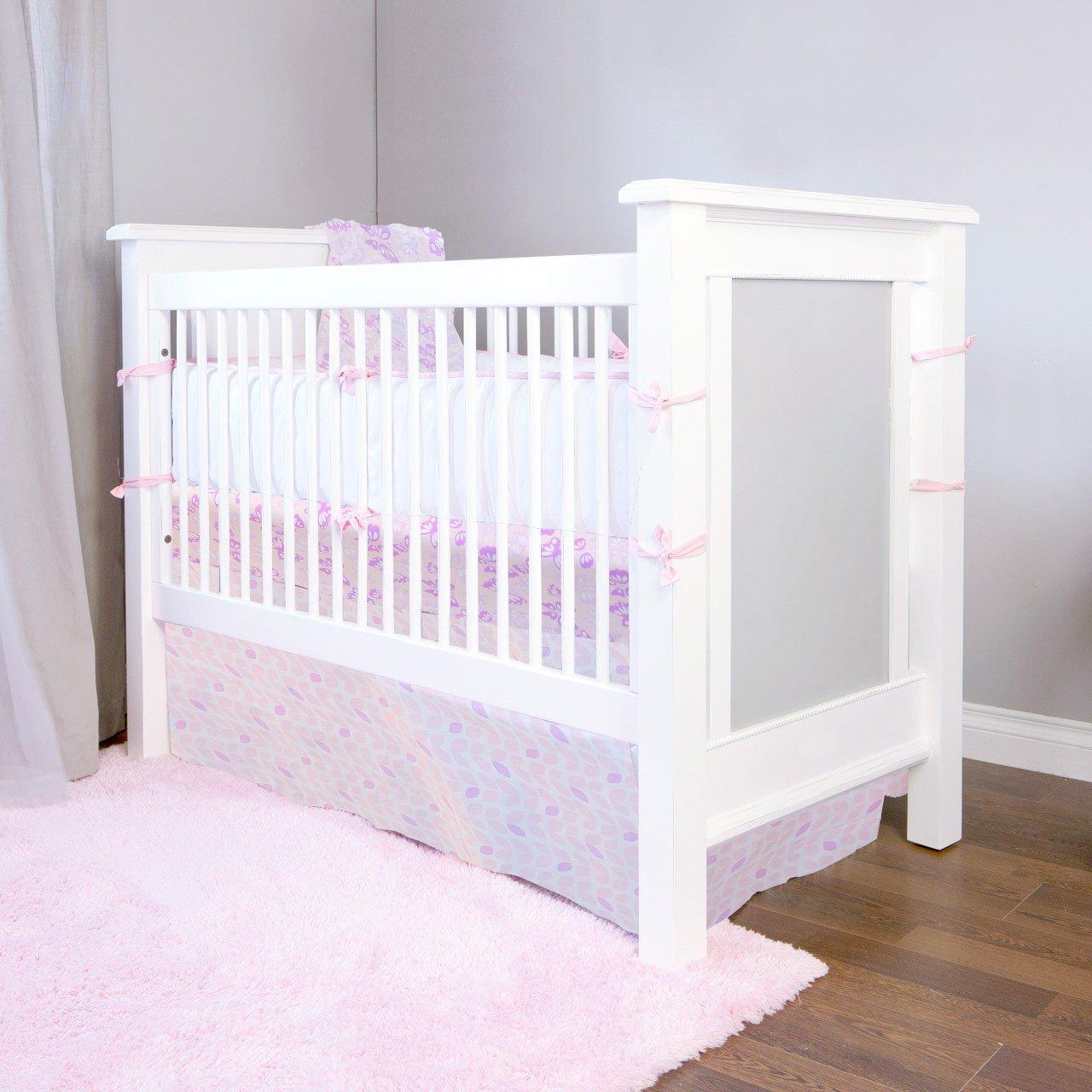 Kushies Baby Ben & Noa Percale Crib Skirt, Pink Petals by Kushies (Image #6)