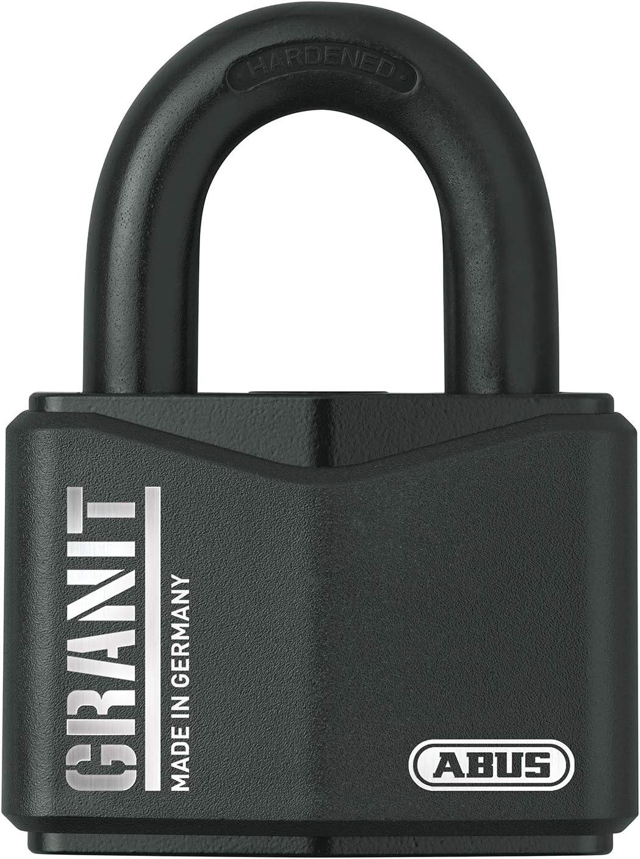Abus Vorhangschloss Granit 37 70 Premium Schloss Für Höchste Beanspruchungen Sicherheitslevel 10 Inkl 2 Schlüssel Schwarz 20117 Baumarkt
