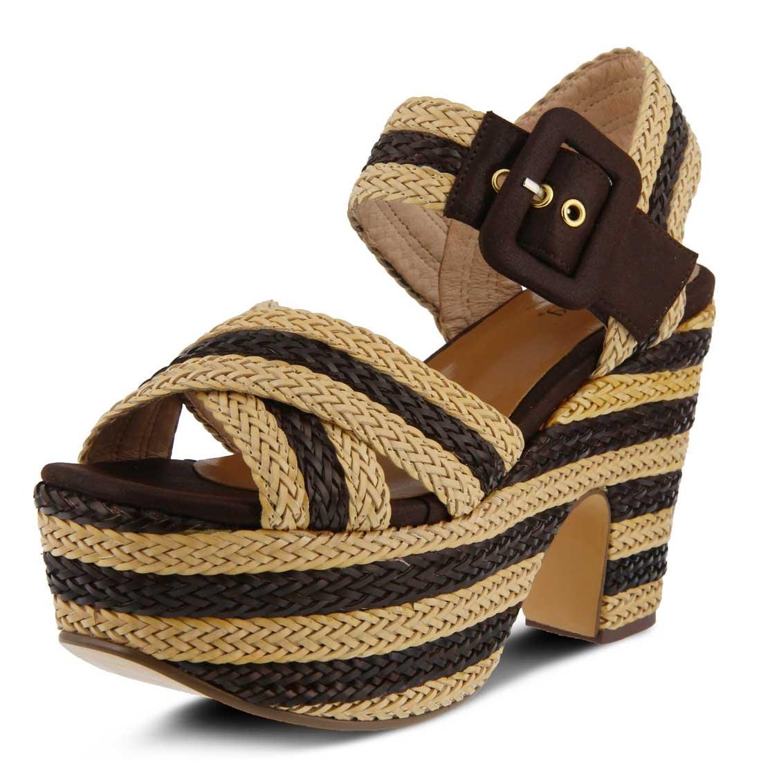 Azura Womens Amare Sandal B01MSNYBUB 38 M EU (US 7.5 - 8 US)|Brown