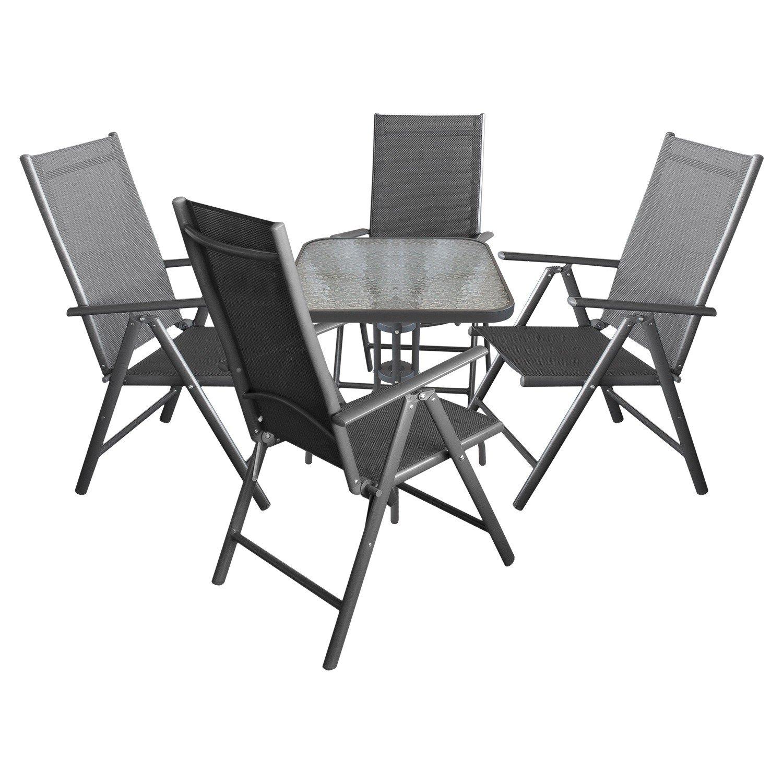 5tlg. Terrassenmöbel Campingmöbel Gartenmöbel Balkonmöbel Set ...