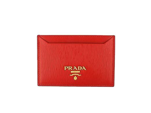 a611d98d1100 Prada Vitello 'Move' Signature Logo Plaque Card Case, Lacca (Red ...