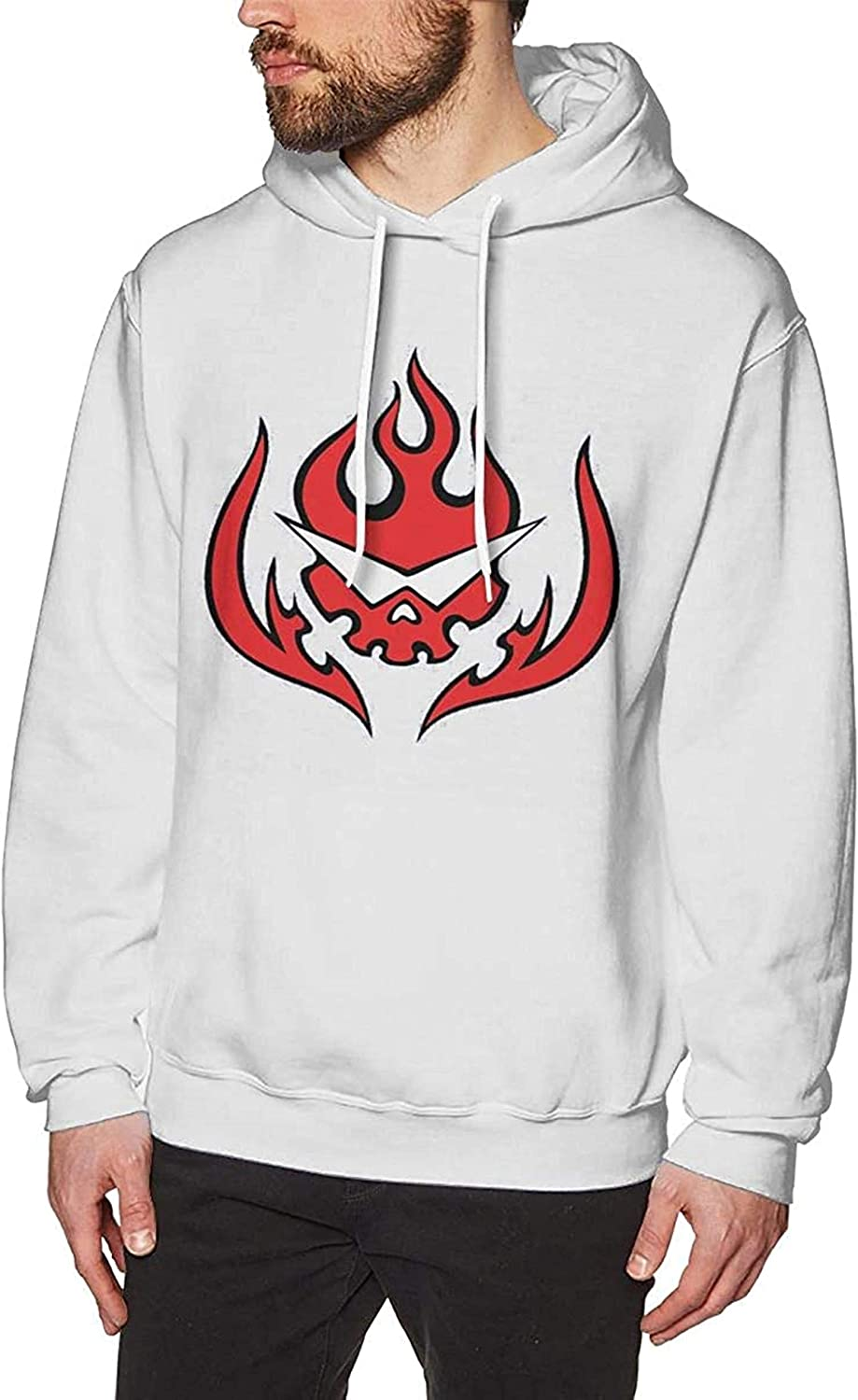 Tengen Toppa Gurren Lagann - Team Dai Gurren Logo Crewneck Long Sleeve Sweatshirt Pullover Hoodies for Men White