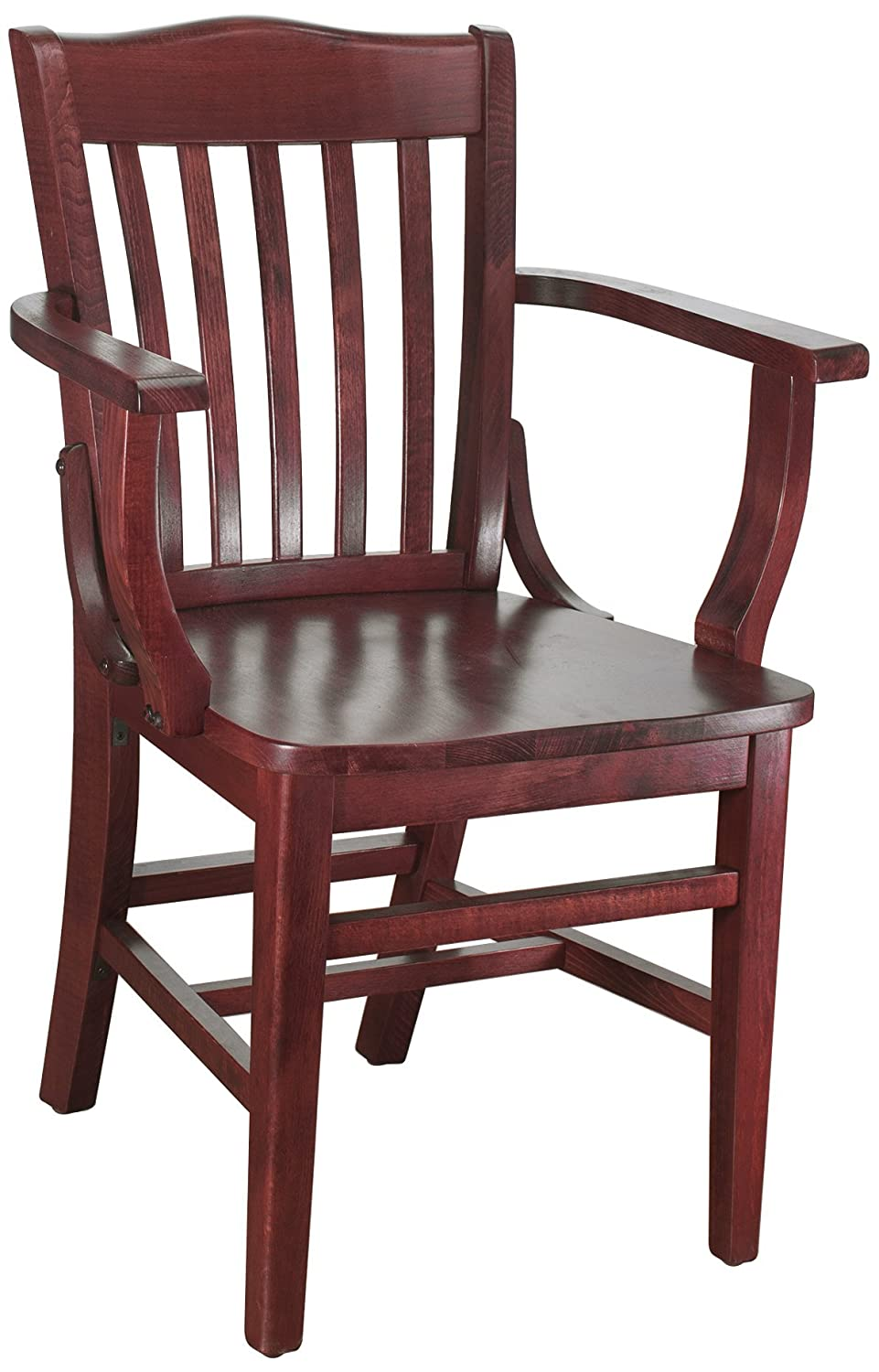 Mahogany Beechwood Mountain BSD-2A-N Solid Beech Wood Arm Chair in Natural for Kitchen & Dining, NA