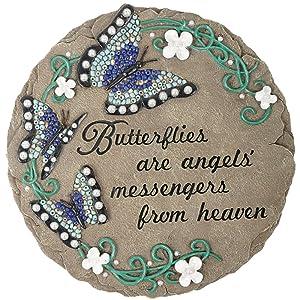 "Carson ""Butterflies Heaven"" Beadworks Garden Stone"