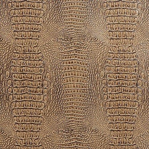 G280 Caramel Embossed Alligator Upholstery Vinyl By The ()