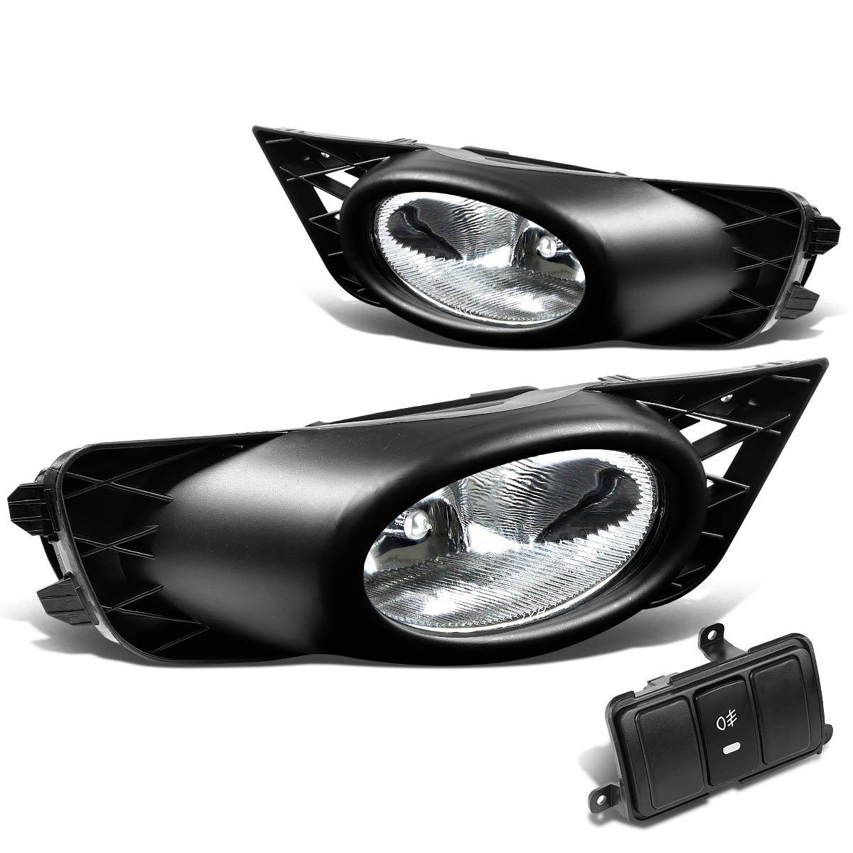 For Honda Civic Fa1 Sedan Pair Of Bumper Driving Fog Wiring A Switch Lights Kit Bezel Chrome Lens Automotive